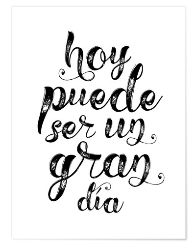 Plakat A great day - Spanish