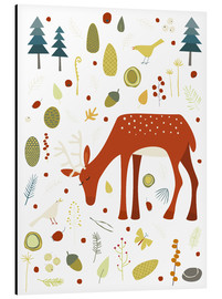 Obraz na aluminium  Pretty deer in the autumn forest - Nic Squirrell
