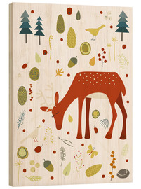 Obraz na drewnie  Pretty deer in the autumn forest - Nic Squirrell