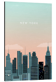 Obraz na aluminium  Illustration of New York - Katinka Reinke