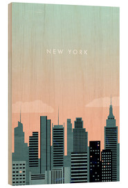 Obraz na drewnie  Illustration of New York - Katinka Reinke