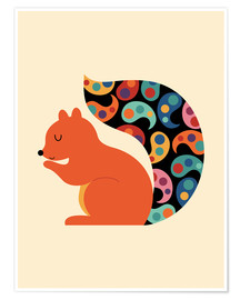 Plakat  Paisley Squirrel - Andy Westface