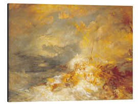 Obraz na aluminium  Fire at sea - Joseph Mallord William Turner
