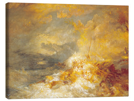 Obraz na płótnie  Fire at sea - Joseph Mallord William Turner