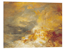 Obraz na PCV  Fire at sea - Joseph Mallord William Turner