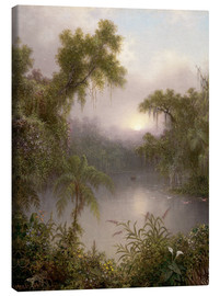 Obraz na płótnie  South American River - Martin Johnson Heade