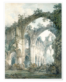 Plakat  Interior of Tintern Abbey in Monmouthshire - Joseph Mallord William Turner