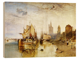 Obraz na drewnie  Cologne, the arrival of a post boat - Joseph Mallord William Turner