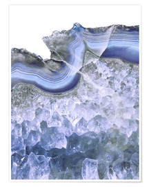 Plakat Agate in water blue