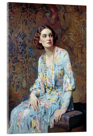 Obraz na szkle akrylowym  Portrait of a Lady - Albert Henry Collings