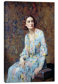 Obraz na płótnie  Portrait of a Lady - Albert Henry Collings