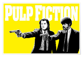 Plakat Pulp Fiction Yellow BANG