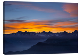 Obraz na płótnie  Colorful sky at sunset over the Alps - Fabio Lamanna