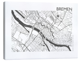 Obraz na płótnie  City map of Bremen - 44spaces