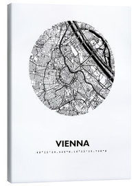 Obraz na płótnie  City map of Vienna - 44spaces