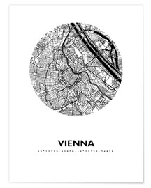 Plakat  City map of Vienna - 44spaces