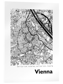 Obraz na szkle akrylowym  City map of Vienna - 44spaces