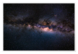 Plakat The Milky Way galaxy, details of the colorful core.