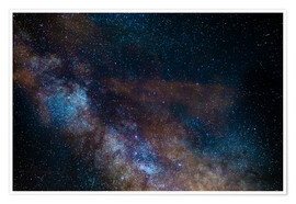 Plakat The Milky Way galaxy, details of the colorful core