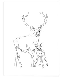Plakat Bambi & Stag