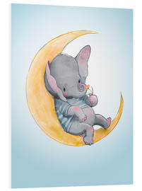 Obraz na PCV  Elephant in the moon - Kidz Collection