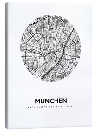 Obraz na płótnie  City map of Munich - 44spaces