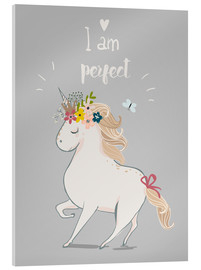 Obraz na szkle akrylowym  Perfect little unicorn - Kidz Collection