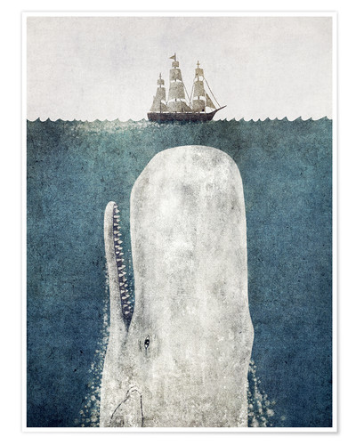 Plakat Moby Dick