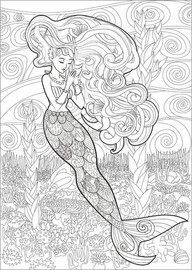Plakat do kolorowania  The little mermaid