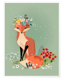 Plakat Fox in the spring