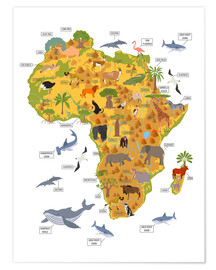 Plakat  African animals - Kidz Collection