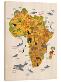 Obraz na drewnie  African animals - Kidz Collection