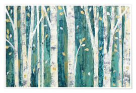 Plakat  Birches in Spring - Julia Purinton