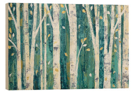 Obraz na drewnie  Birches in Spring - Julia Purinton