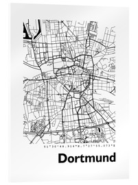 Obraz na szkle akrylowym  City map of Dortmund - 44spaces
