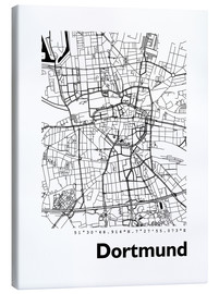 Obraz na płótnie  City map of Dortmund - 44spaces