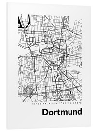 Obraz na PCV  City map of Dortmund - 44spaces