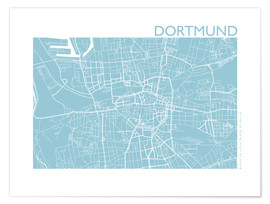 Plakat  City map of Dortmund - 44spaces