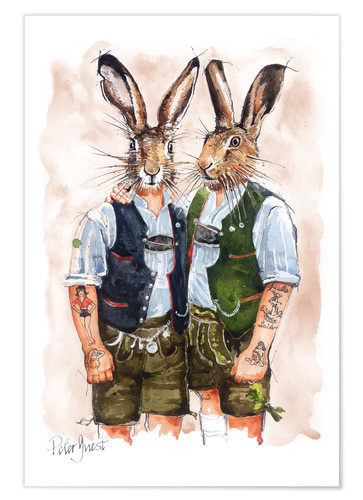 Plakat Gay Rabbits