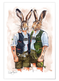Plakat  Gay Rabbits - Peter Guest