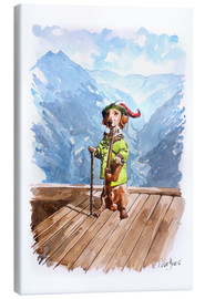 Obraz na płótnie  Dachshund in the Alps - Peter Guest