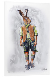 Obraz na PCV  Rabbit guy in leather pants - Peter Guest