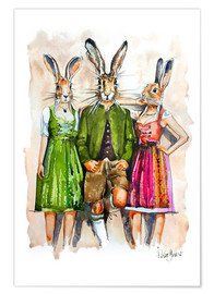 Plakat Dude Rabbit & Bunnies