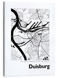 Obraz na płótnie  City map of Duisburg - 44spaces