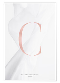 Plakat ROSE GOLD LETTER COLLECTION C