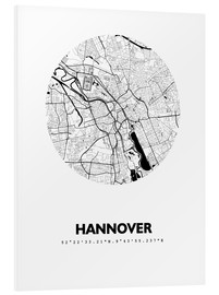 Obraz na PCV  City map of Hannover - 44spaces