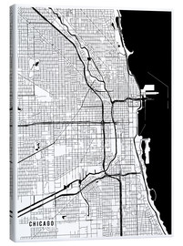 Obraz na płótnie  Chicago USA Map - Main Street Maps