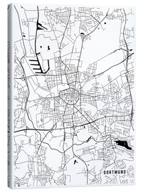 Obraz na płótnie  Dortmund Germany Map - Main Street Maps