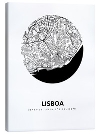 Obraz na płótnie  City map of Lisbon - 44spaces
