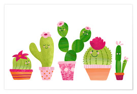 Plakat Cactuses in the pot